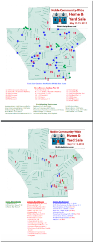 graphic regarding Printable Garage Sale Price List named 2016 Noble Neighborhood Property Backyard Sale - Noble Neighbors